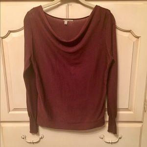 Halogen Burgundy Cowl Neck Sweater